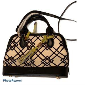 Spartina 449 black/cream/lime satchel/shoulderbag